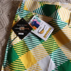 Men's Loudmouth Golf Shorts, Vegeburger style.